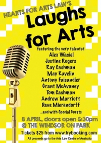 Hearts for Arts Law - Comedy Fundraiser Night!