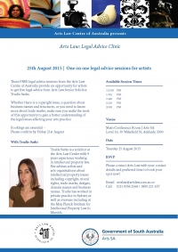 Arts Law Legal Advice Clinic Adelaide