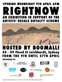 RIGHTNOW Campaign in support of the Artist's Resale Royalty Scheme