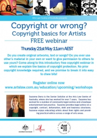 Copyright or wrong? Copyright basics for artists webinar