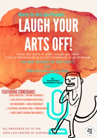 Hearts for Arts Law presents: Laugh your arts off!